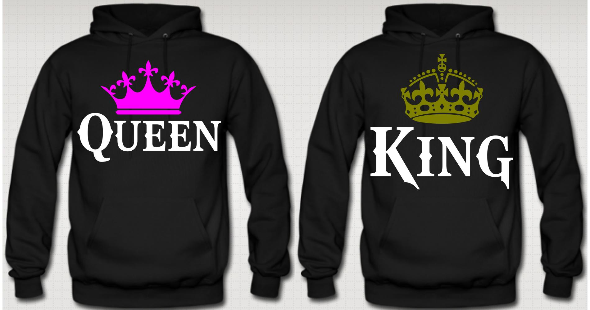 king and queen couple hoodies from teee shop couples bff