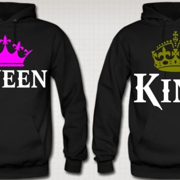 abd18dd384 KING AND QUEEN COUPLE Hoodies from Teee Shop | Couples BFF