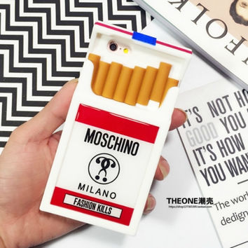 moschino cigarette soft case for iphone 5/6/plus