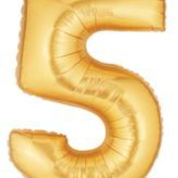 """Number Five 40"""" Foil Balloon"""