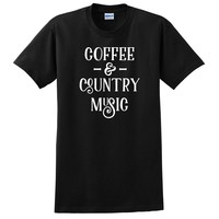 Coffee and country music T Shirt