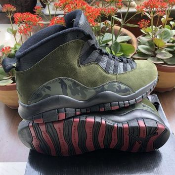 AIR JORDAN 10 Amy Green Men Basketball Shoes