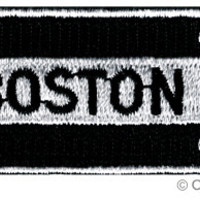 BOSTON ROAD SIGN patch embroidered iron-on One Way Highway Traffic Sign Road Emblem Biker Symbol Arrow applique