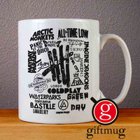 Band Collage 5SOS Imagine Dragon Mayday Parade Arctic Monkeys Ceramic Coffee Mugs