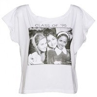 Ladies Clueless Movie Cast Oversized Cropped T-Shirt : TruffleShuffle.com