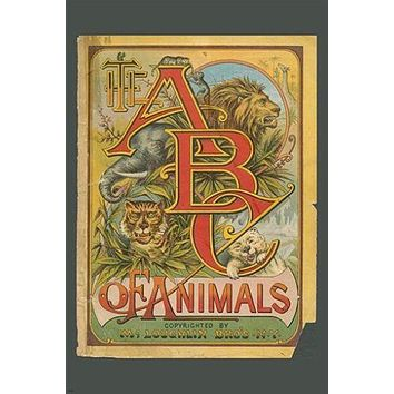 THE ABC OF ANIMALS vintage ad poster CHILDREN'S BOOK collectors 24X36 RARE