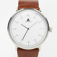 ASOS Minimal Detail Watch In Brown