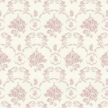 Ralph Lauren Fabric LCF18834F Saratoga Toile Rose