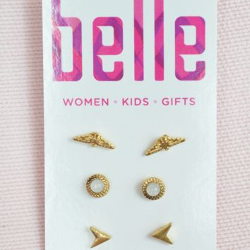 simple touch earring set
