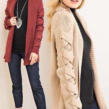 Kick the Dust Up Knotted Cardigan