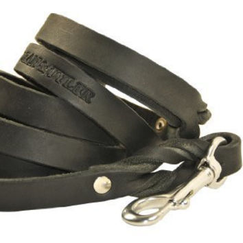 Dean & Tyler Love to Walk Leash with Stainless Steel Snap Hook, Black, 2-Feet by 3/4-Inch