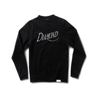 Old Script Crewneck Sweatshirt in Black