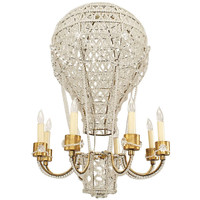 French 1930's Crystal Hot Air Balloon Chandelier Attributed to Bagues