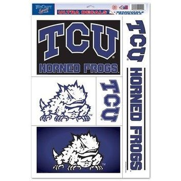 """Licensed TCU Horned Frogs 11"""" x 17"""" Car Window Cling Decal Texas Christian 214898 KO_19_1"""
