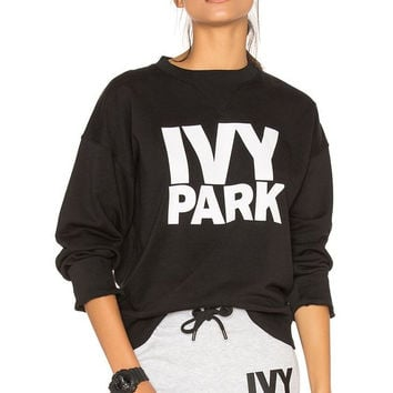 "Hot Sale Beyonce's ""ivy park"" letters sweater Black"