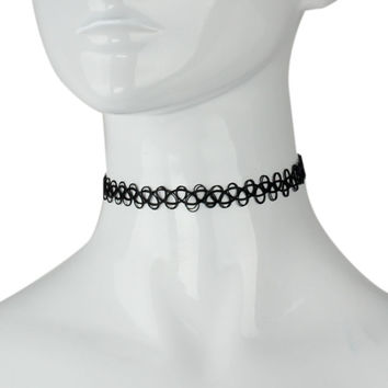 Hot Selling Women Girls Tattoo Choker Stretch Necklace Black Retro Vintage Elastic Simple Lively Good Gift
