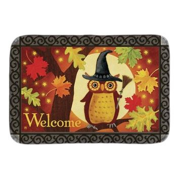 Halloween Owl Indoor Outdoor Doormat