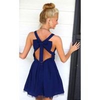 Cover Girl Dress-Navy
