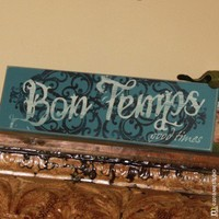 CLING | Bon Temps Customizable Wood Sign | Custom handpainted and distressed cajun word for good times new orleans louisiana wood sign - wedding, housewarming
