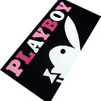 """Playboy """" Bunny Cropped """" Beach Towel 100% Cotton"""