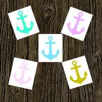 Anchor Car Decal | Anchor Monogram Decal | Monogram Anchor Vinyl | Decal Monogram Gift | Monogram sticker | Car sticker | Anchor Decal