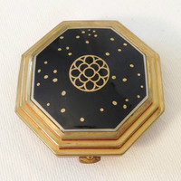 Antique Compact - 1920's Le Debut Richard Hudnut - Art Deco Collectible - Book Piece - Genuine Cloisonne Compact