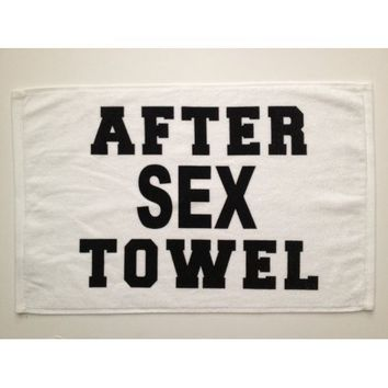 "After Sex Towel 16"" x 26"" Hand Towel Novelty Gag Gift"