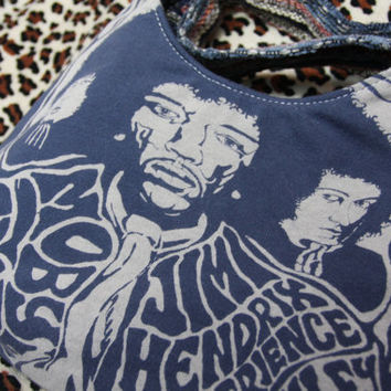 JIMI HENDRIX- Upcycled Rock Band T-shirt Purse - OOAK