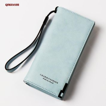 Fashion Female wallet Women Wallets 2017 Long PU Leather Wallet Female Clutch Coin Purse Ladies Zipper purse credit cards holder