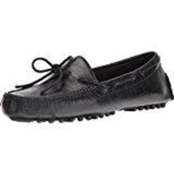Cole Haan Men's Black Croc Embossed Leather Loafers