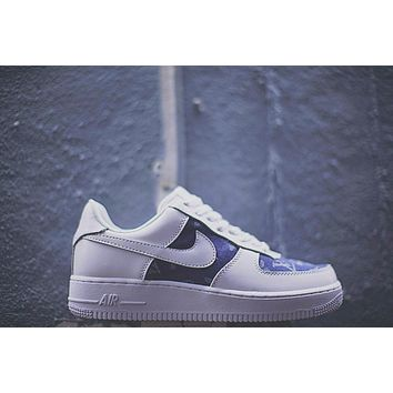 Louis vuitton x Supreme x Nike Air Force 1¡°DenimLV¡±923089-600