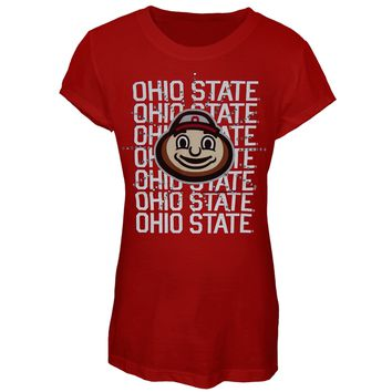 Ohio State Buckeyes -  Rhinestone Ray Girls Juvy T-Shirt