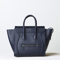 Mini Luggage Handbag in Smooth Calfskin
