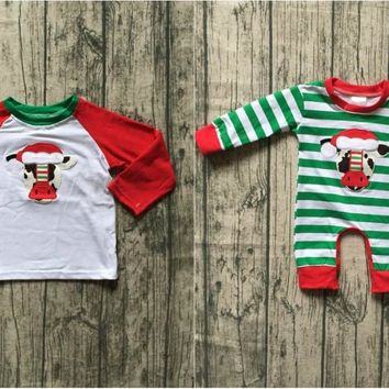 new arrival Fall winter baby boys boutique clothes cow shirt top e9dcacb016af