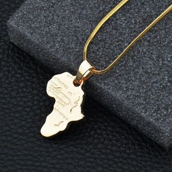New Arrival Gift Jewelry Stylish Shiny Alloy World Map Necklace [10768847683]