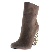 Schutz Womens Chatlie Suede Metal Detail Ankle Boots