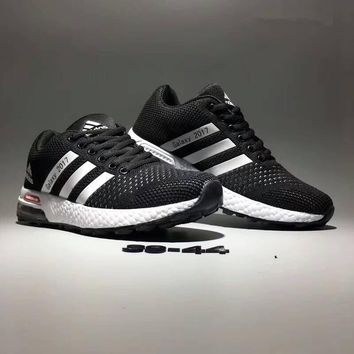 """Adidas Galaxy 2017"" Unisex Sport Casual Air Cushion Sneakers Couple Marathon Popcorn Running Shoes"
