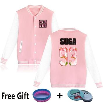 MULYEN Kpop BTS V-Neck Hoodies For Men Women Sweatshirts Young Forever Brand Baseball Jacket Clothing Bomber SUGA V JIMIN