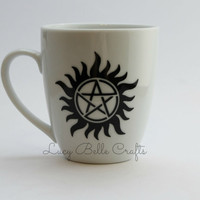 Supernatural Anti-Possession 12 oz Coffee Cup