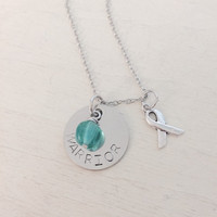 PCOS, Cervical Cancer, Ovarian Cancer, PTSD, Rape, Cyster, 1 in 10, Stainless Steel Necklace
