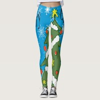 Cartoon Merry Christmas Leggings