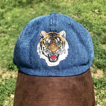Two-Tone Tiger Patch Dad Hat