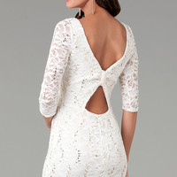 Short Lace Dress with Three Quarter Sleeves by Jump