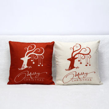 3D Decorative Deer Series Cotton Pillow Covers Luxury Home Seat Chair Bed Throw Pillow Case