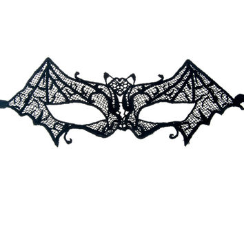 Bat Crochet Lace Mask