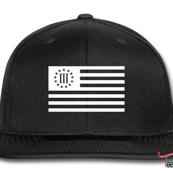 3 percenter flag Snapback