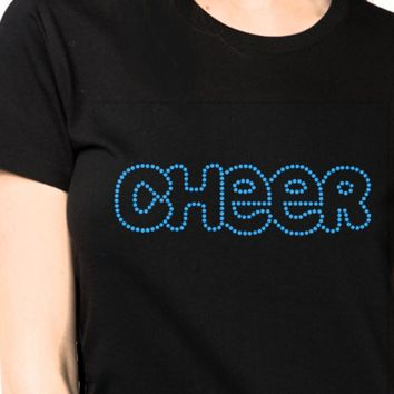 lady's Bling T-shirts Cheers Rhinestones Bling Tees
