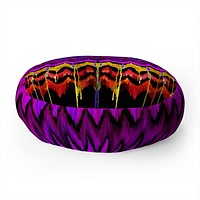 Holly Sharpe Navajo Haven Floor Pillow Round