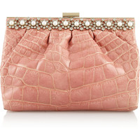 Valentino Embellished alligator clutch – 60% at THE OUTNET.COM