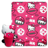 Pittsburgh Steelers NFL Hello Kitty with Throw Combo